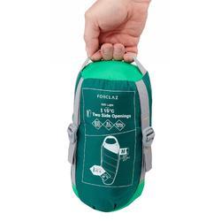 TREK500 15°light trekking sleeping bag - green