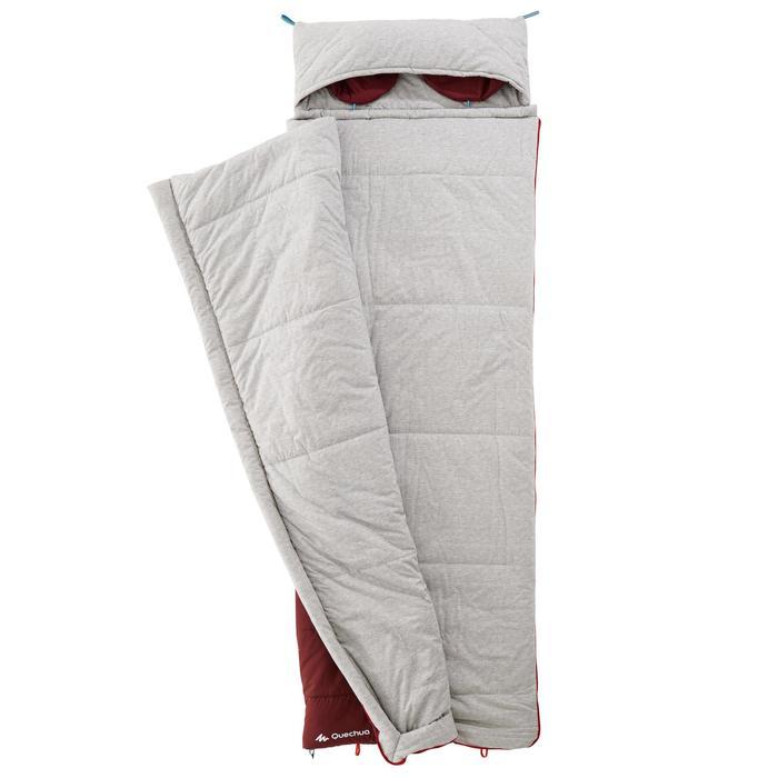 Schlafsack Arpenaz 0°C Baumwolle Camping rot