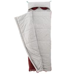 Schlafsack Baumwolle Camping Arpenaz 0 °C rot