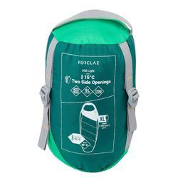 15°輕量登山睡袋TREK500-綠色