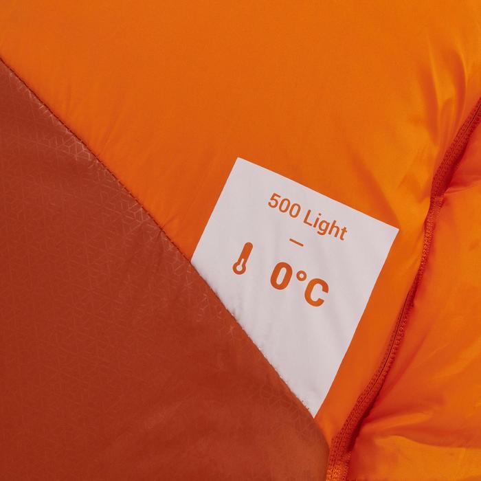 Saco de Dormir de Montaña Trekking Forclaz Trek500 0° Adulto Light Naranja