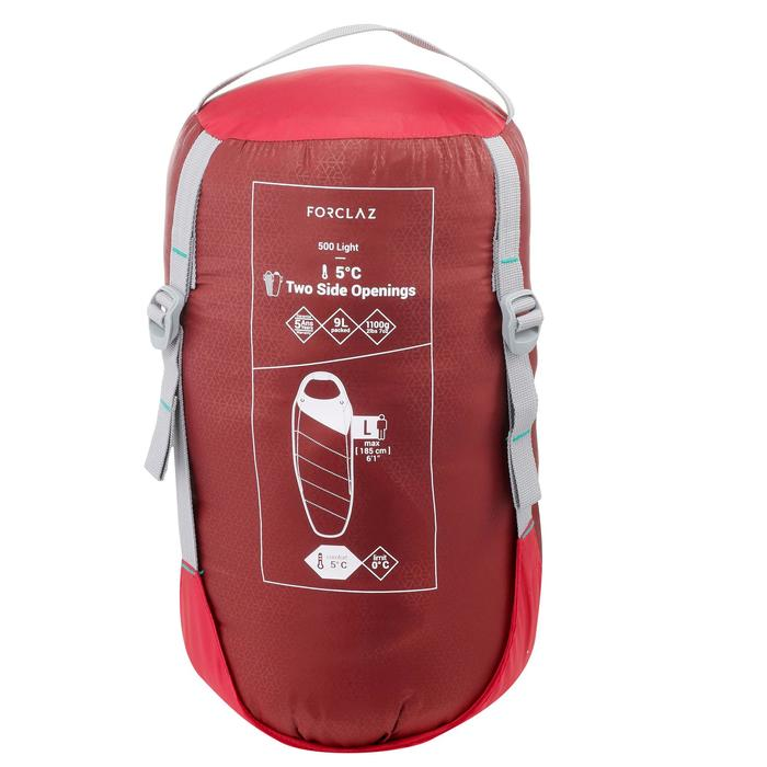Sac de couchage de trek 500 5° light rose