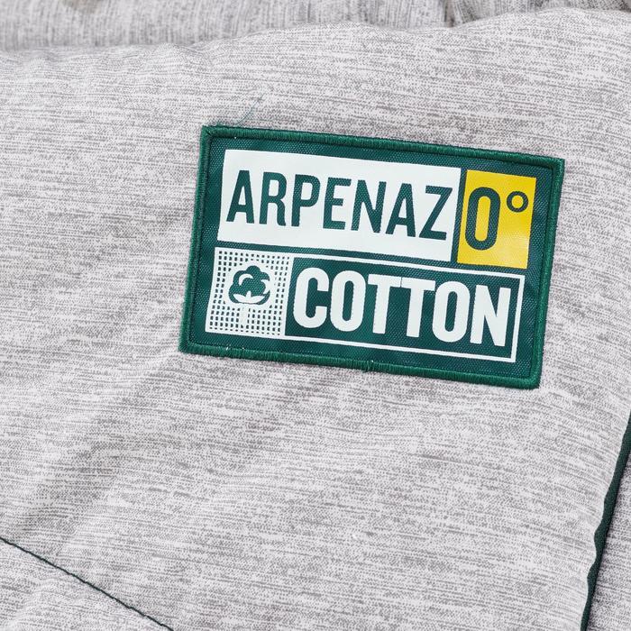 Slaapzak Arpenaz - Katoen - 0°C - groen