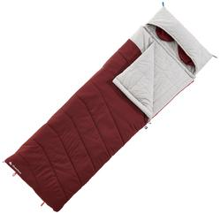 Schlafsack Camping Baumwolle Arpenaz 0°C rot