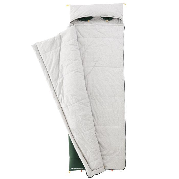 Schlafsack Camping Baumwolle Arpenaz 0°C grün
