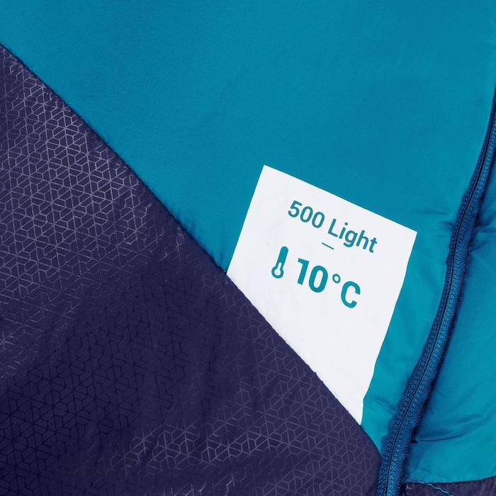 Slaapzak voor trekking Trek 500 10° light blauw