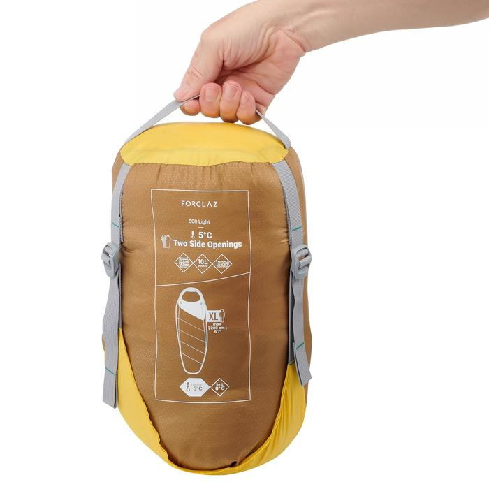 Sac de couchage de trekking TREK500 5° light jaune