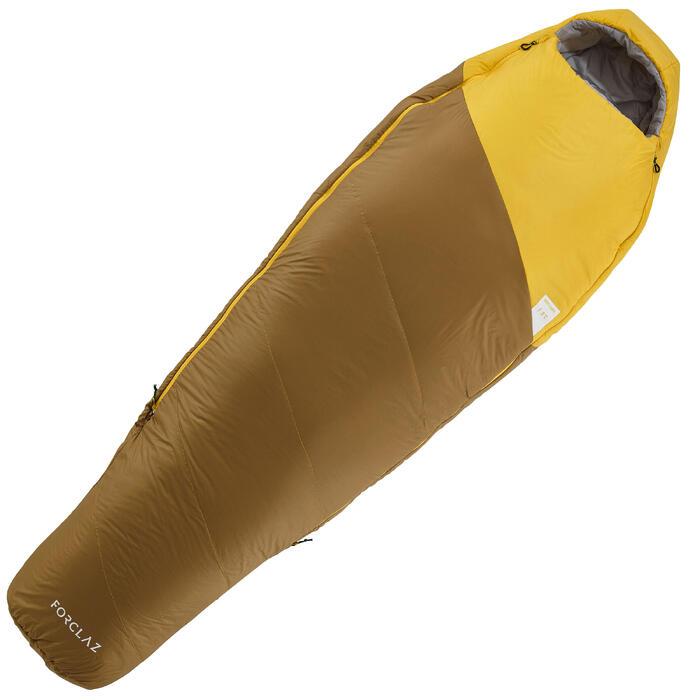 Trekkingschlafsack Trek 500 light 5° gelb