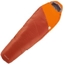 0°登山羽絨睡袋TREK500-橘色
