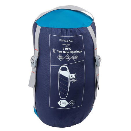 Trek500 10° Trekking Sleeping Bag - Light Blue