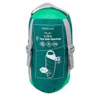TREK500 15° Light Trekking Sleeping Bag - Green