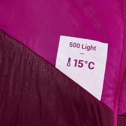 Slaapzak voor trekking Trek 500 15° light paars