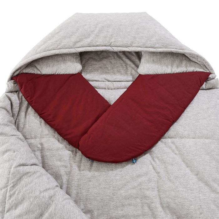 Katoenen kampeerslaapzak Arpenaz 0°C rood