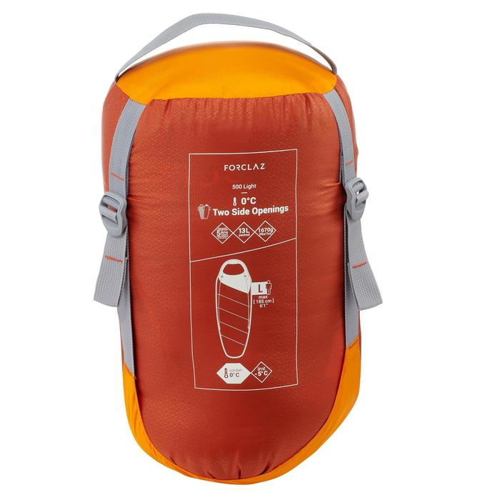 Sac de couchage de trek 500 0° light orange