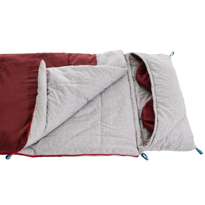 露營睡袋ARPENAZ 0°-紅色