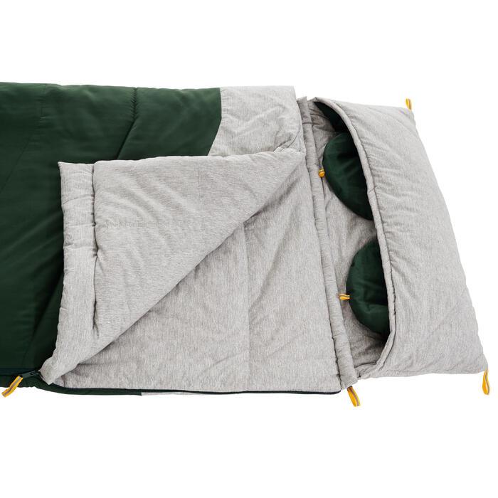 Katoenen kampeerslaapzak Arpenaz 0°C groen
