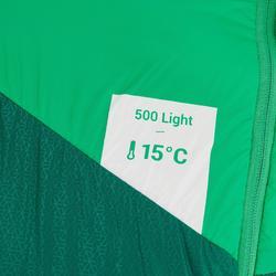 Saco Dormir Montaña Trekking Forclaz Trek500 15° Adulto Light Verde