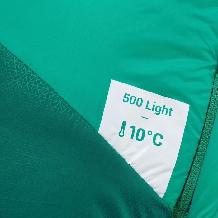 Saco de dormir de trekking TREK500 10° light verde