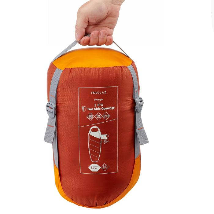 Sac de couchage de trekking TREK500 0° light orange