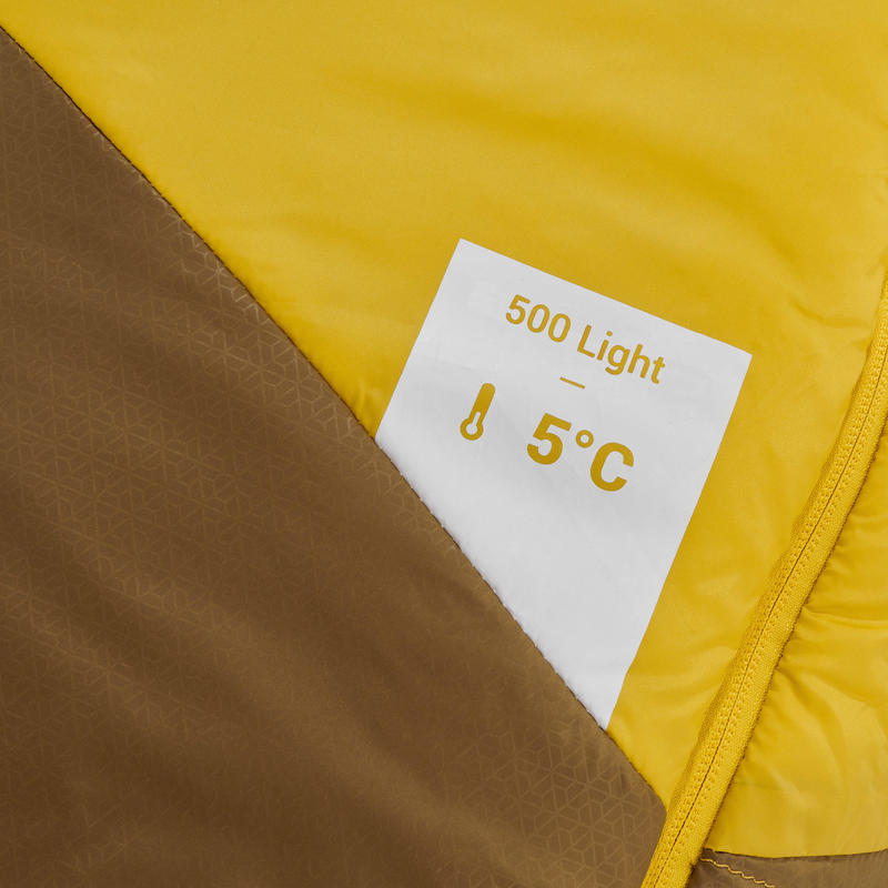 Saco de dormir de trekking TREK500 5° light amarillo