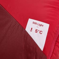 Trekkingschlafsack Trek500 Light 5° rosa