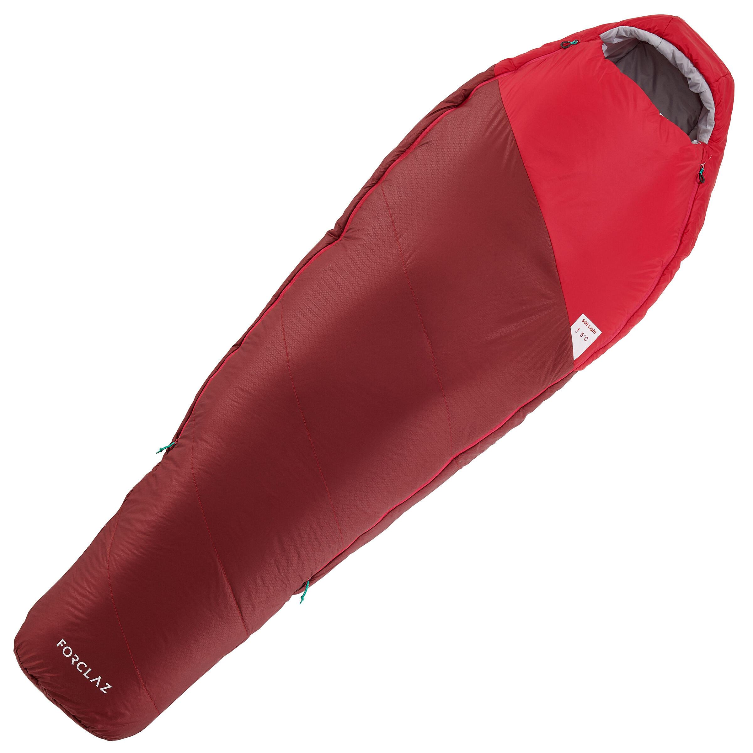 500 5° Trekking Sleeping Bag - Light Pink