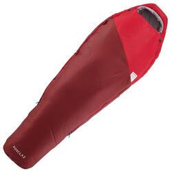 5°輕量登山睡袋TREK500-紅色