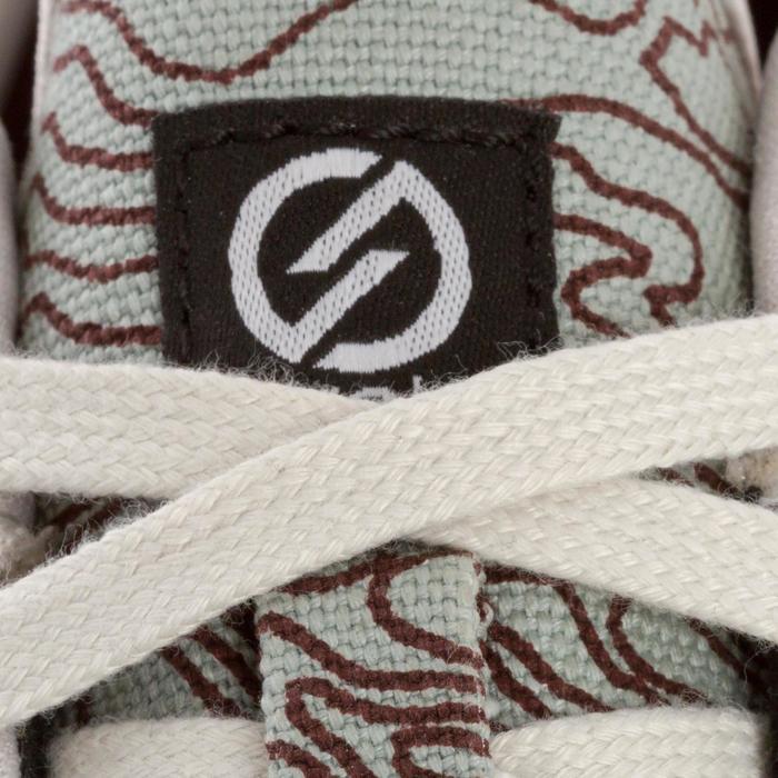 Skaterschuhe Sneaker Vulca 100 M Skateboard Longboard Erwachsene khaki/grau