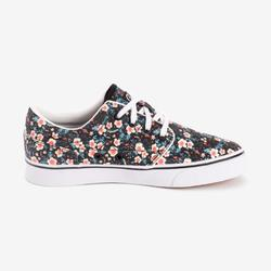 Chaussures basses skateboard-longboard adulte VULCA 100 CANVAS L Flowers