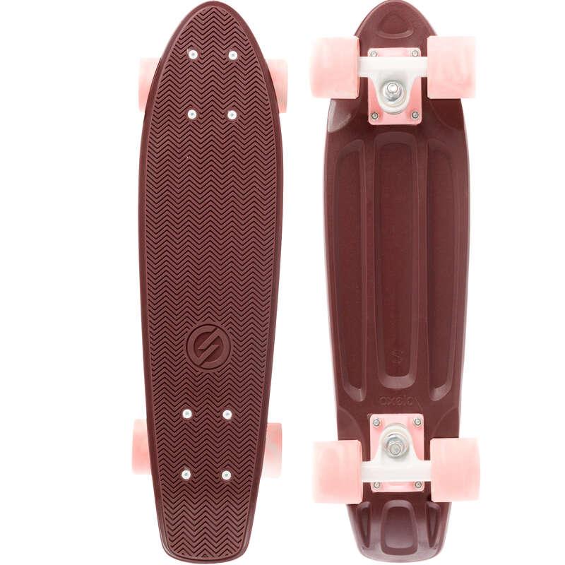 LONGBOARD AND CRUISER Skateboarding and Longboarding - Yamba 100 - Burgundy OXELO - Skateboarding and Longboarding