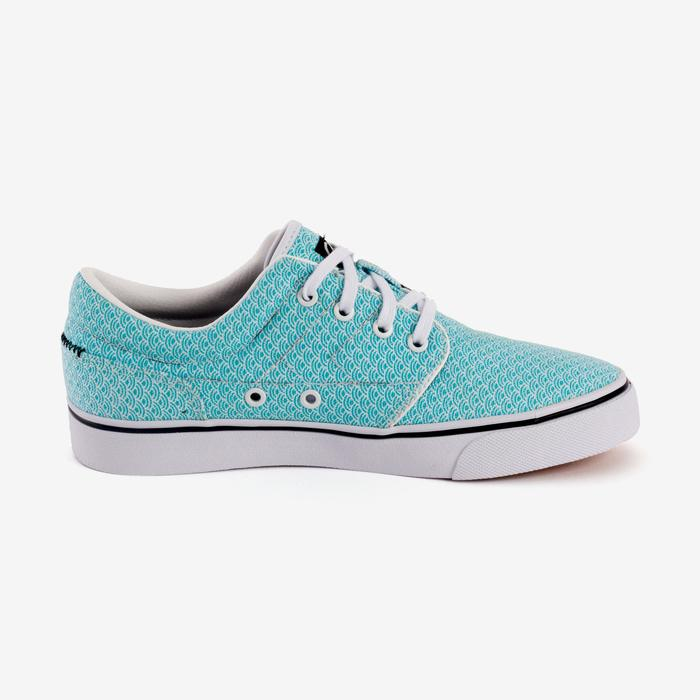 Chaussures basses skateboard-longboard adulte VULCA CANVAS L allover pois - 1290976