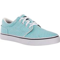 Lage skateboardschoenen voor dames Vulca canvas allover stippen