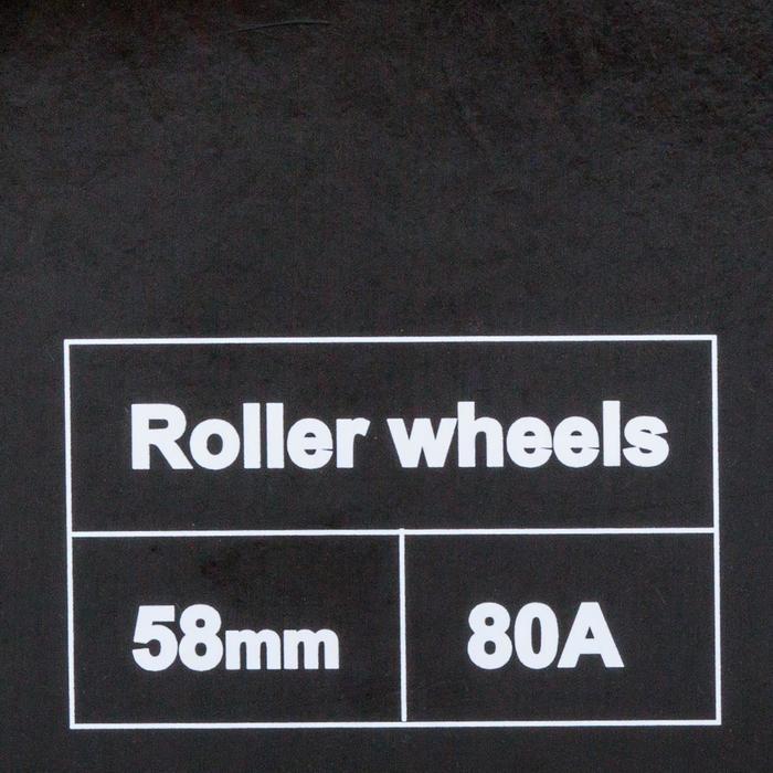 Pack 4 roues quad fitness 58mm 80A Fila fuchsia