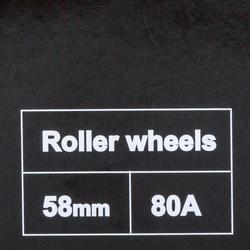 Set van 4 wielen voor fitness rolschaatsen 58 mm 80A Fila fuchsia