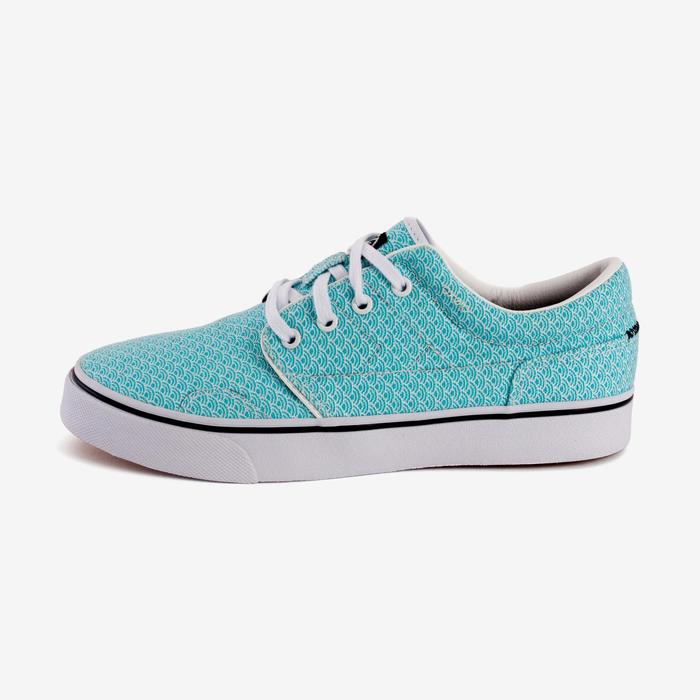 Chaussures basses skateboard-longboard adulte VULCA CANVAS L allover pois - 1291040