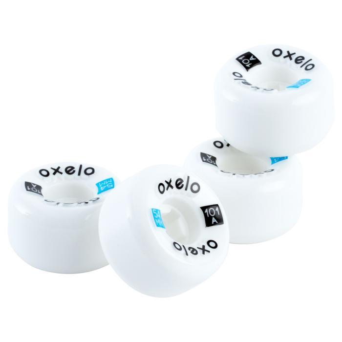 4 skateboardwielen van 54 mm 101A