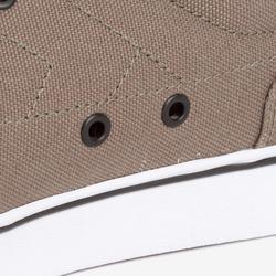 Chaussures basses skateboard-longboard adulte VULCA 100 kaki foncé