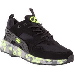 Schoenen op wieltjes Force groen graffiti