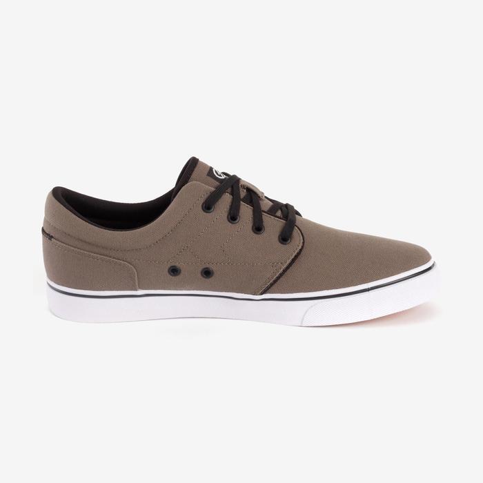 Zapatillas de caña baja skateboard-longboard adulto VULCA 100 M caqui oscuro
