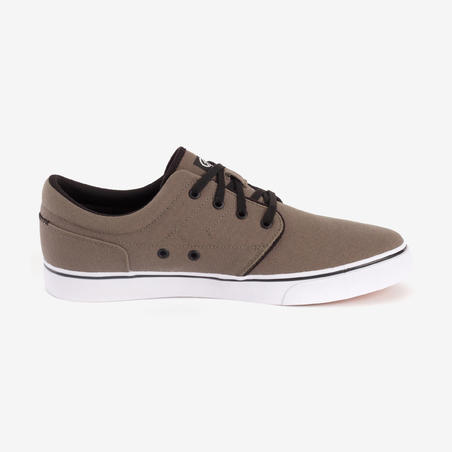 Vulca 100 Adult Skateboarding Longboarding Low-Top Shoes - Dark Khaki