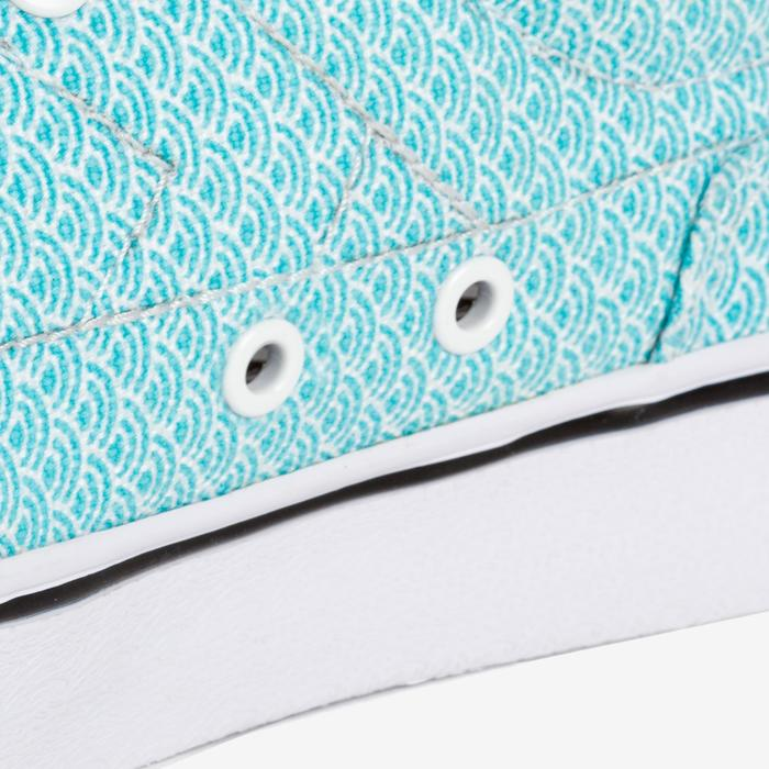 Chaussures basses skateboard-longboard adulte VULCA CANVAS L allover pois - 1291158