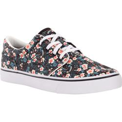 Vulca 100 Adult Skateboarding Longboarding Low-Top Shoes - Black Floral