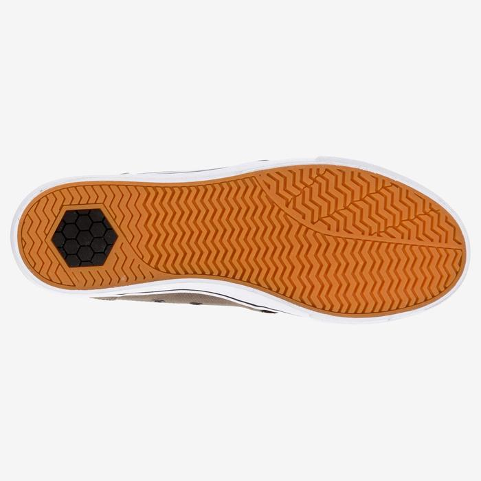 Skaterschuhe Sneaker Vulca 100 M Low Skateboard Longboard Erwachsene dunkelkhaki