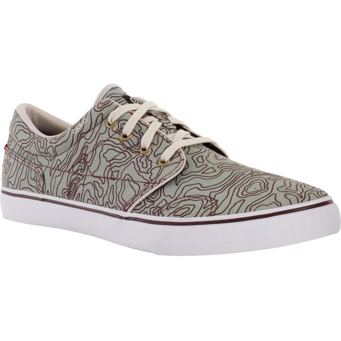 Chaussures basses skateboard-longboard adulte VULCA 100 CANVAS TOPO