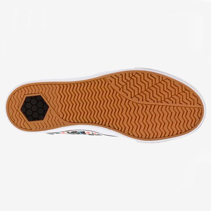 Lage skateboard/longboardschoenen volwassenen Vulca 100 bloemen zwart