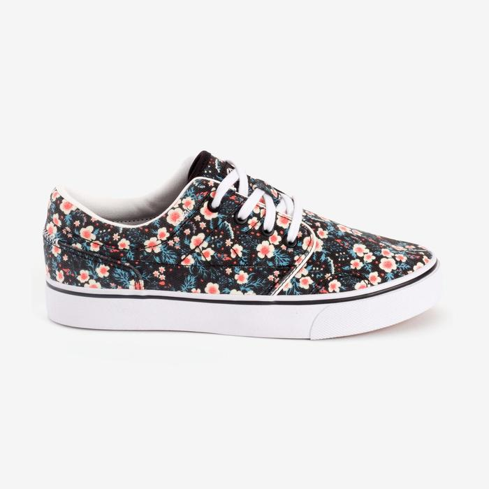 Chaussures basses skateboard-longboard adulte VULCA CANVAS L allover pois - 1291295