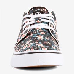 Zapatillas de caña baja skateboard-longboard adulto VULCA 100 flowers negro