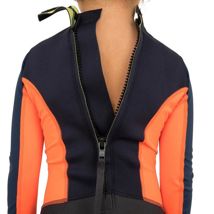 Kids' Dinghy/Catamaran UV-resistant 1 mm Neoprene Wetsuit - Dark Blue/Orange - 1291351