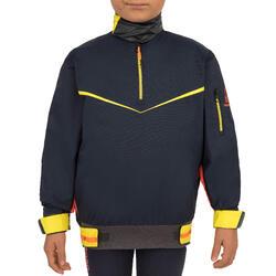 Windbestendige spraytop zeilen kinderen Dinghy 500 donkerblauw
