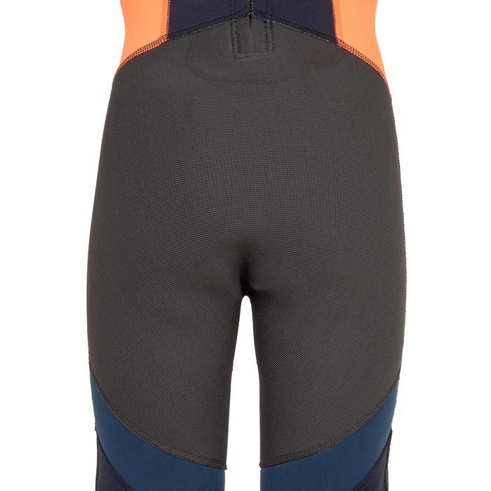Kids' Dinghy/Catamaran UV-resistant 1 mm Neoprene Wetsuit - Dark Blue/Orange - 1291366